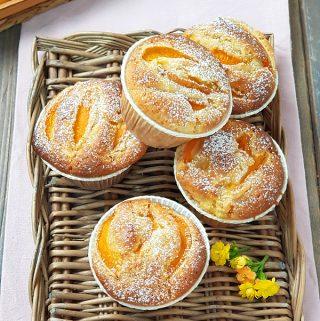 Muffin alle albicocche con cuore morbido
