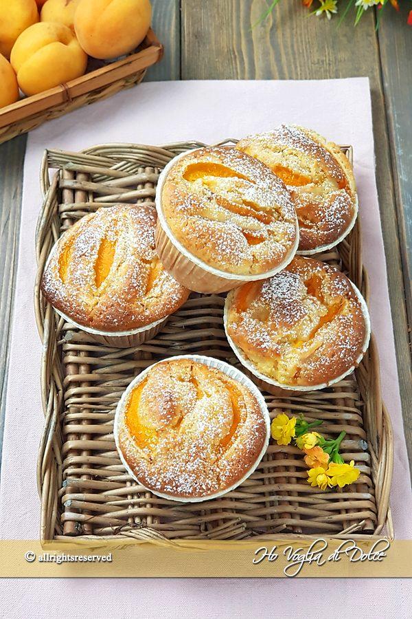 Muffin alle albicocche con cuore morbido ricetta | Ho Voglia di Dolce