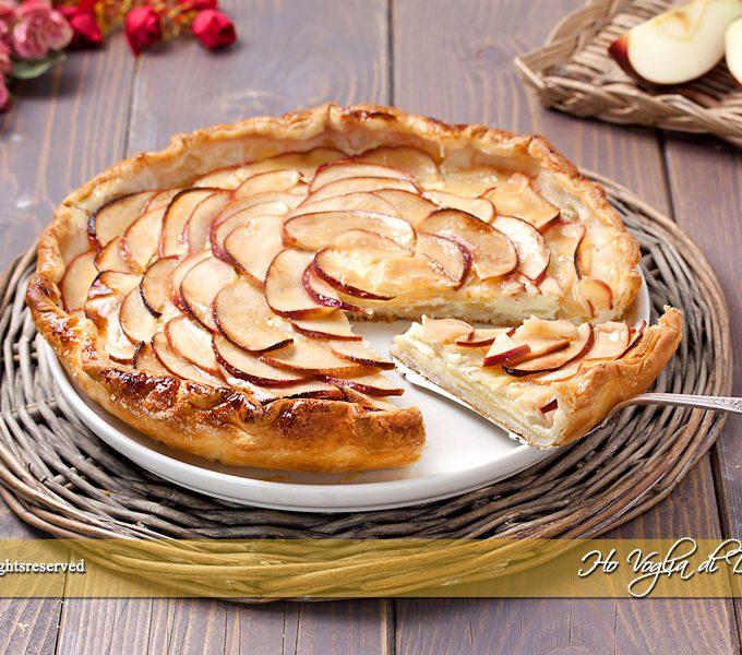 Torta di mele e pasta sfoglia facilissima ricetta | Ho Voglia di Dolce