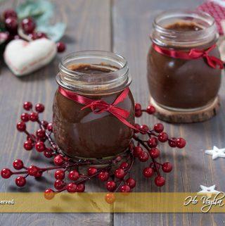 Confettura di pere, cioccolato e rum