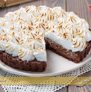 Crostata meringata al cioccolato ricetta | Ho Voglia di Dolce