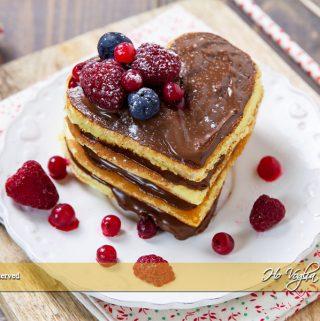 Pancakes a forma di cuore