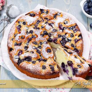 Torta ai mirtilli e limone con yogurt ricetta | Ho Voglia di Dolce