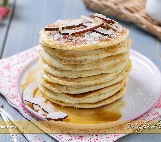 Pancakes al cocco ricetta veloce   Ho Voglia di Dolce