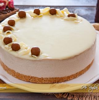Cheesecake al caffè e cioccolato bianco