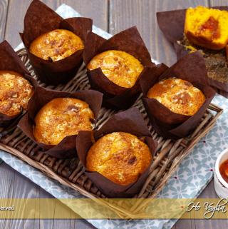 Muffin alle carote con cuore all'arancia
