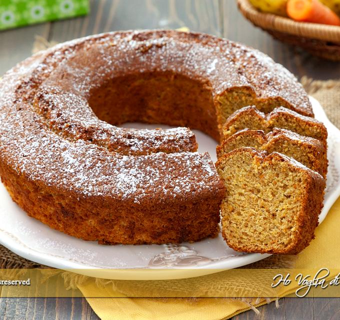 Torta smoothie di carote, mela e banana frullate ricetta | Ho Voglia di Dolce