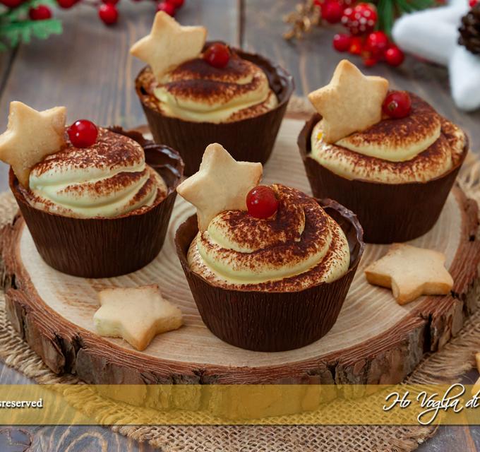 Cestini di cioccolato con crema al mascarpone ricetta | Ho Voglia di Dolce