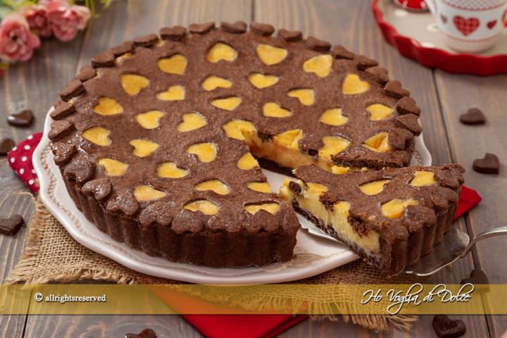 Crostata crema al cioccolato bianco e lamponi ricetta | Ho Voglia di Dolce