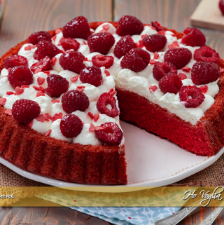 Crostata morbida red velvet