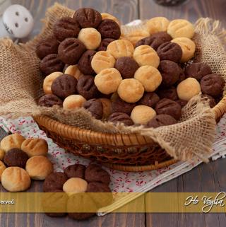 Fiori di pasta frolla biscotti