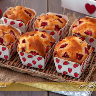Muffin alle fragole e ricotta