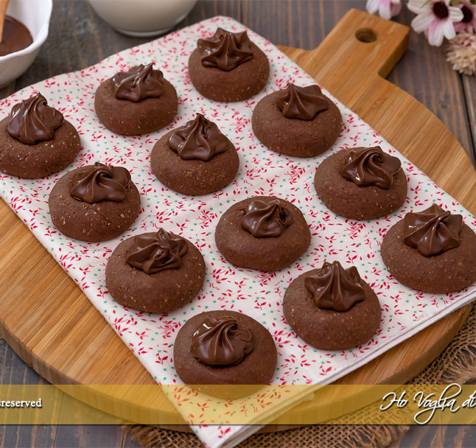 Nutellotti biscotti alla Nutella veloci ricetta | Ho Voglia di Dolce