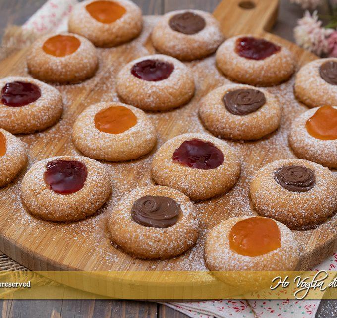 Biscotti al burro con marmellata o cioccolato ricetta   Ho Voglia di Dolce