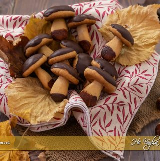 Funghetti di pasta frolla