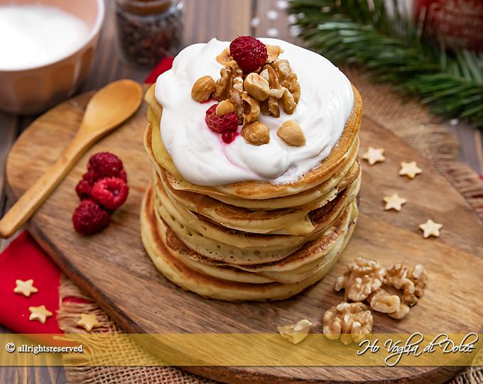 Pancakes allo yogurt greco ricetta veloce | Ho Voglia di Dolce