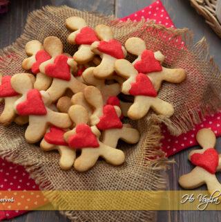 Omini romantici biscotti di San Valentino ricetta | Ho Voglia di Dolce