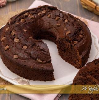 Torta al cioccolato al latte senza bilancia e senza burro