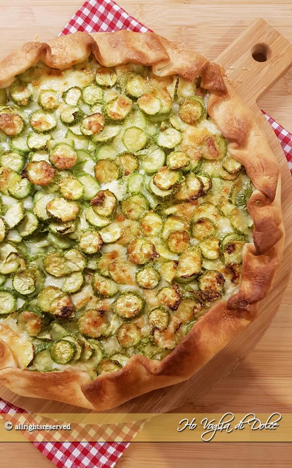Torta salata di zucchine con pasta sfoglia ricetta   Ho Voglia di Dolce